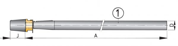 Aksel Ø30 Rustfri - 1500mm-0