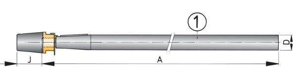 Aksel Ø40 Rustfri - 1000mm-0