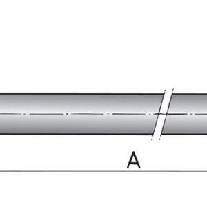 Aksel Ø20 Rustfri - 1500mm-0