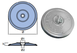 Tallerken anode Ø130mm-0