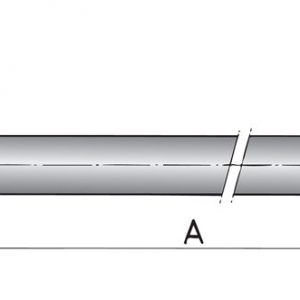Aksel Ø35 Rustfri - 4500mm-0