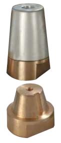 RADICE SERIE - konisk propel møtrik med messing Ø40mm-0