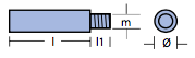 Zinkstav til motorer Ø12mm-0