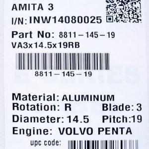 14,5X19 H 3BL Volvo Aquamatic (Long Hub)-0